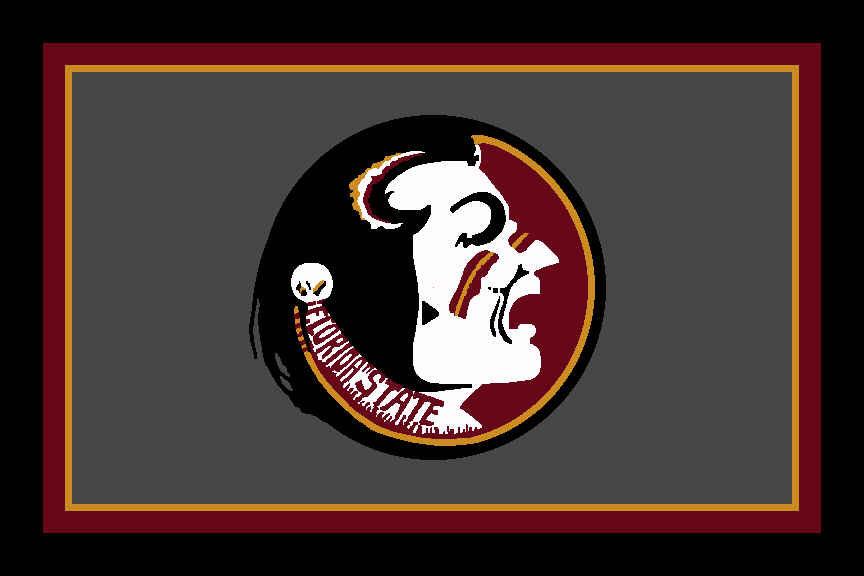 Wide acrylic of fsu logo variety and fsu logo apparel the