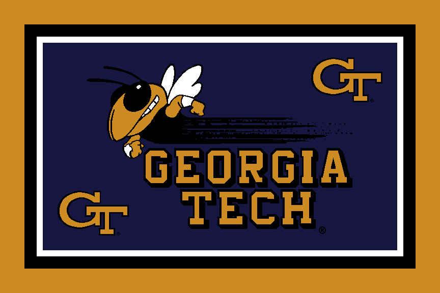 Logo Rus Georgia Tech University Georgia Tech Area Rug 4 X 6 Area Rugs.